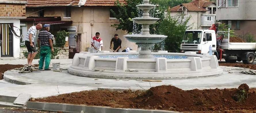 Фонтанът в Тополовград е почти готов