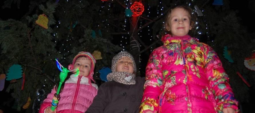 В Любимец запалиха светлините на Коледната елха