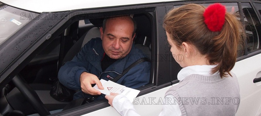 В Свиленград раздаваха брошури за безопасно шофиране