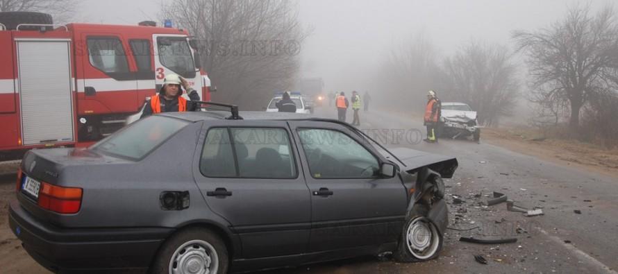 Двама ранени при катастрофа между Мазда и Фолксваген