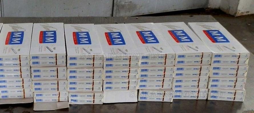 Контрабандни цигари вместо сушени кайсии откриха митничари