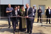 Премиерът Бойко Борисов на откриването  на пречиствателна станция в Свиленград