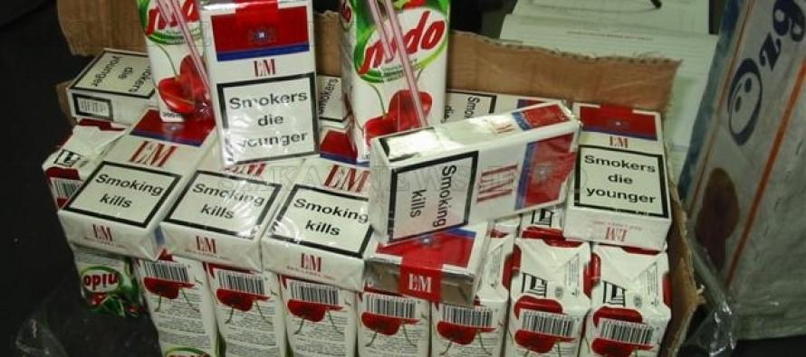 Хиляди кутии цигари и готварска печка задържаха митничари