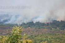 Огнена стихия бушува между  Остър Камък и Брягово