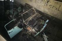 Кола се запали до изборна секция (обновена)