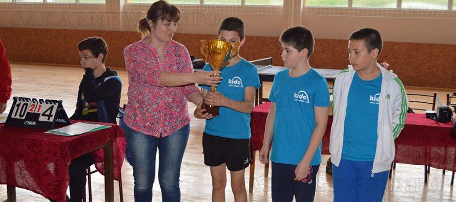 Купата на кмета по тенис на  маса отиде в Пловдив