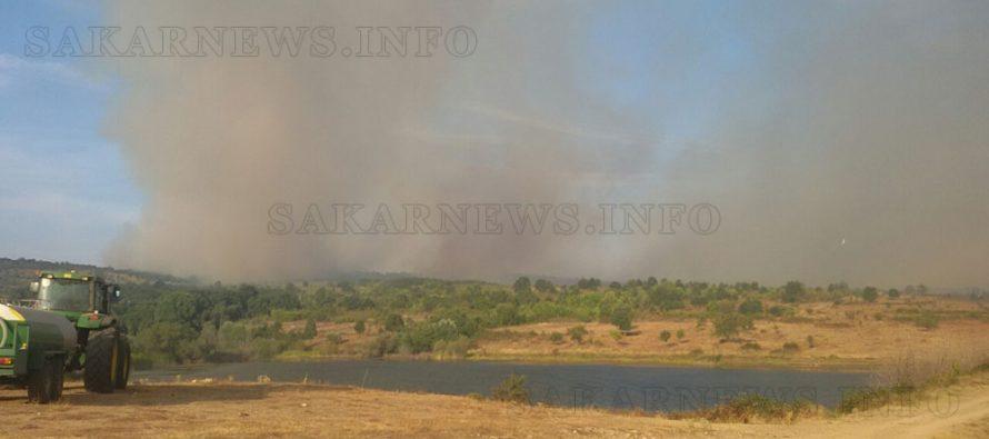 Обявиха бедствено положение заради голям пожар в Сакара