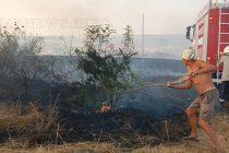 Три пожара горяха едновременно край Харманли