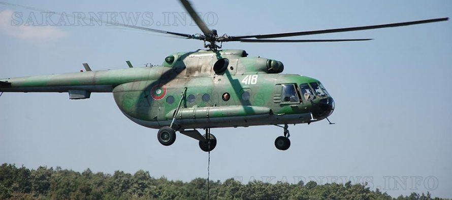Вертолет Ми-17 се включи в гасенето на пожар в землището на село Хухла
