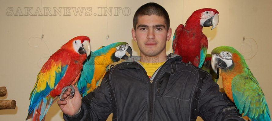 Най-голямата колекция от папагали гостува в Града на Белоногата
