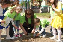 Деца направиха еко кът в двора на детската си градина