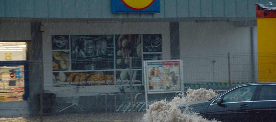 Дъждът пощади ЛИДЛ, но не и мазетата
