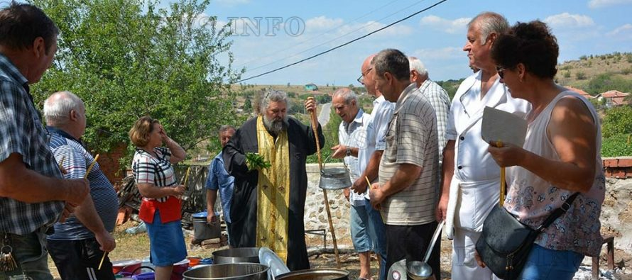 Курбан в деня на Светата майка за  празника на село Йерусалимово