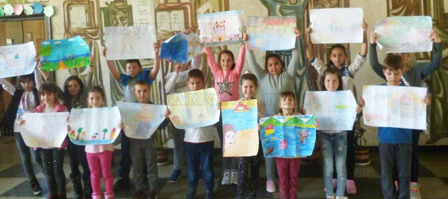 Ученици изразиха бедствия с рисунки