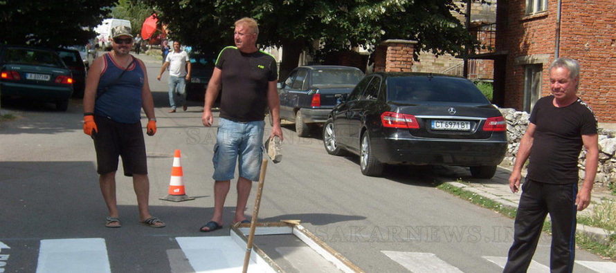 Обновяват всички  пешеходни пътеки