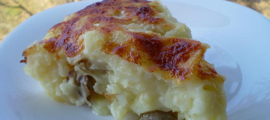 Пай с картофи и пилешко месо