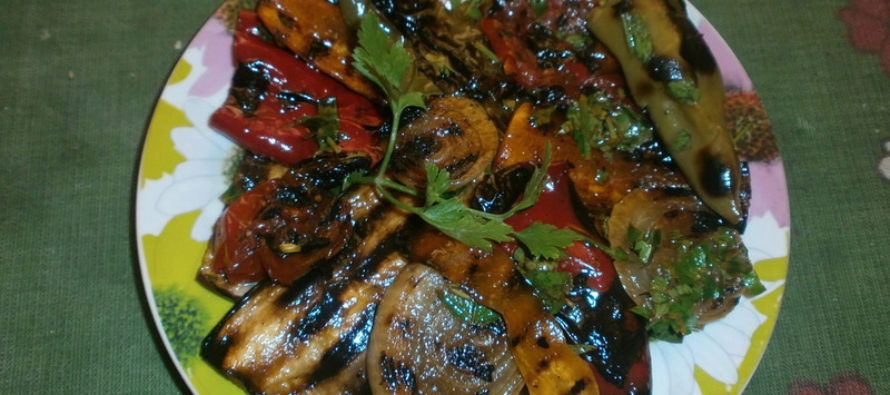 Карамелизирани зеленчуци на скара