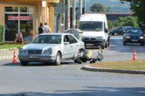 Мъж в инвалидна количка пострада при сблъсък с Мерцедес