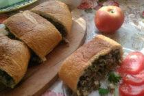 Пълнен хляб с кайма и гъби