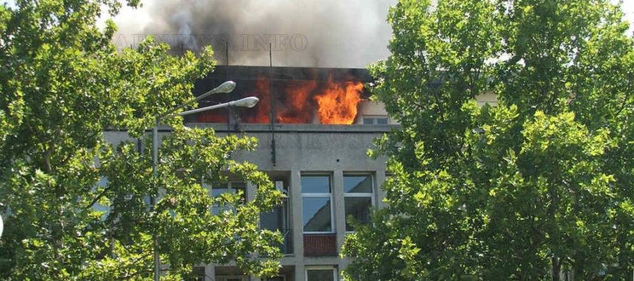 Изгоря част от последният етаж на ОбА – Харманли