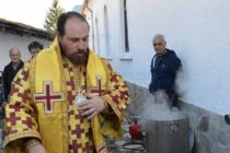 Епископ Йеротей отслужи литургия в Устрем