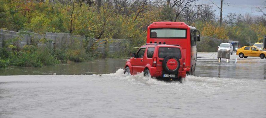Одрин отново е под вода, този път от обилни дъждове