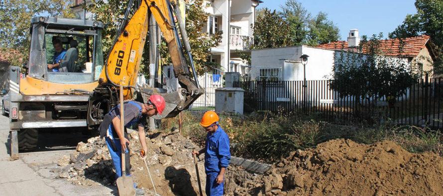 Община обнови водопроводи на осем улици в града си