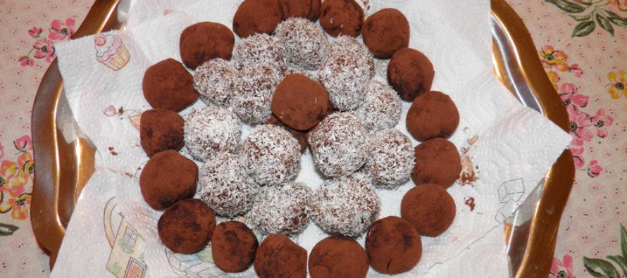 Шоколадови трюфели с ром