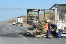 "Изгоряха ремарке и товарът му на магистрала ""Марица"""