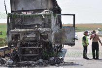 """Камион, натоварен с тръби изгоря на """"Марица"""""""