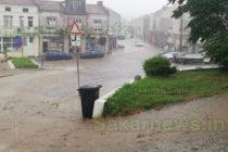 Порой наводни улици в Ивайловград