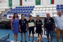 Тенисисти завоюваха второ място отборно от Държавни игри