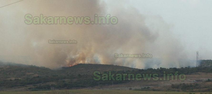 Пожар се разпростря на хиляди декари между няколко села