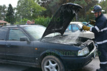 Ауди пламна на паркинг в Харманли