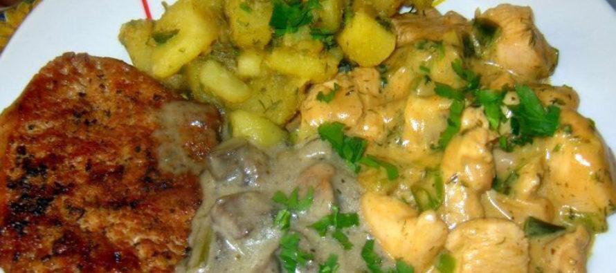 Фантазия от пилешко и свинско месо