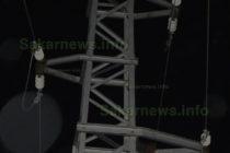Мъж бе намерен провесен на стълб с високо напрежение