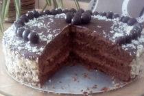 Шоколадово- сметанова торта