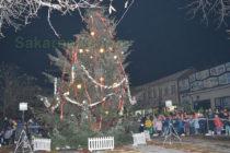 Светлините на коледната елха  в Тополовград грейнаха
