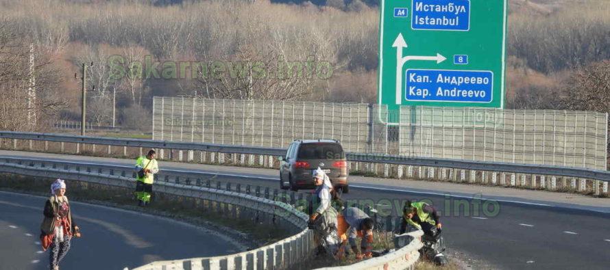 Изчистиха магистралата след като опашката от тирове намаля