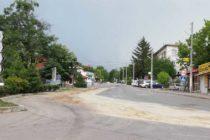 Поток от олио заля улица в Тополовград