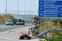 """Злополучна катастрофа на магистрала """"Марица"""", близо до Харманли"""
