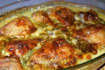 Пиле с топено сирене и гъби