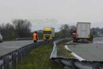 Заспал шофьор събра над 80 метра мантинели на магистрала