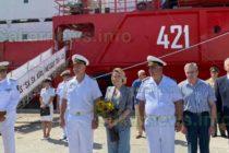 Мария Бакалова стана кръстница на военен научноизследователски кораб